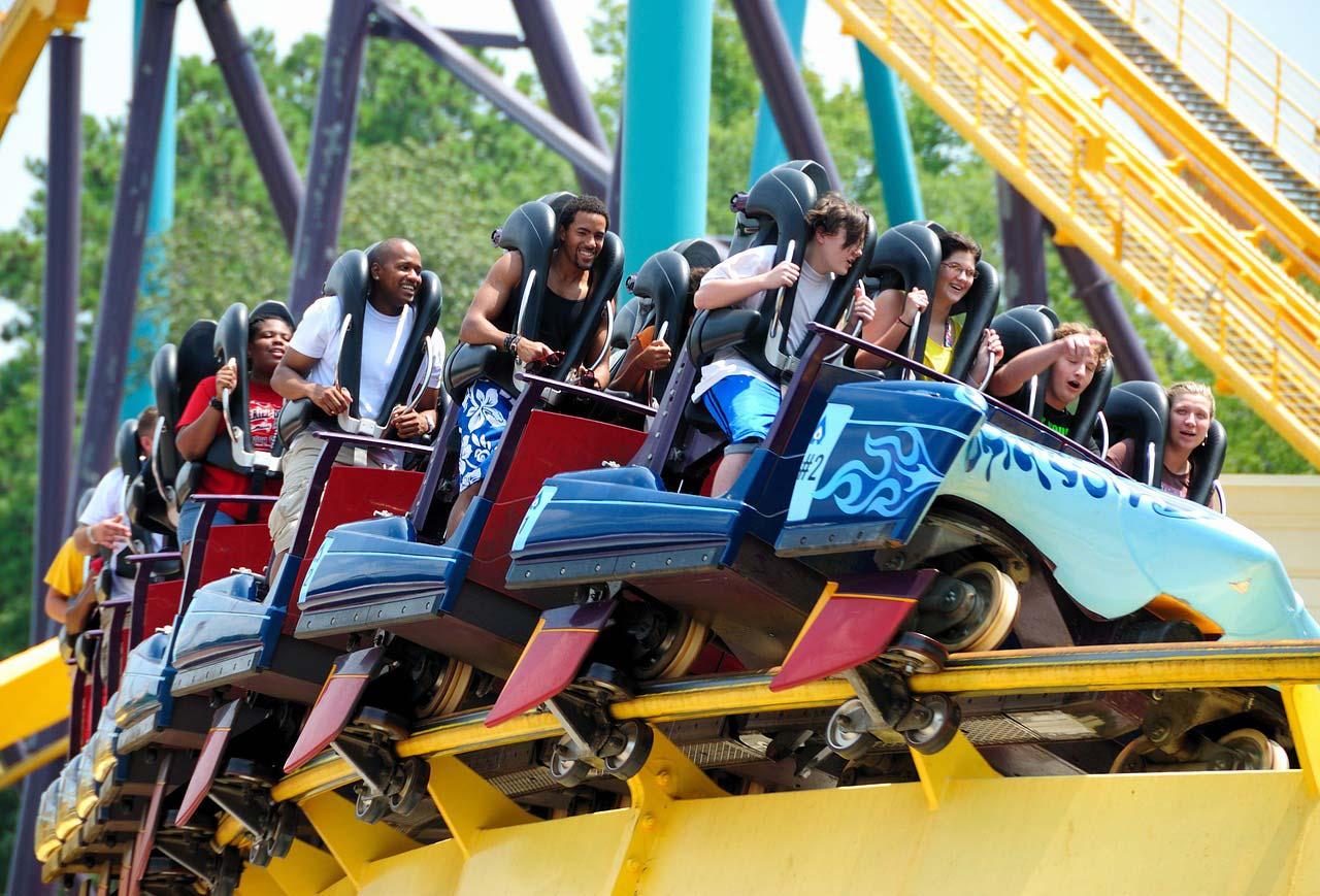 roller coaster compressed air